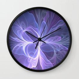 Abstract Art, Purple Fantasy Fractal Wall Clock