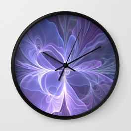 Abstract Art, Purple Fantasy Fractal Wall Clock