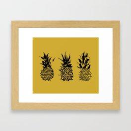 No two pineapples are alike Framed Art Print