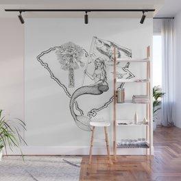 South Carolina Mermaid Wall Mural