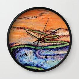 Darling River Aerial Wall Clock