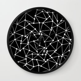 Ab Out Black Spots Wall Clock