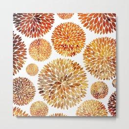 Floral Blaze Metal Print