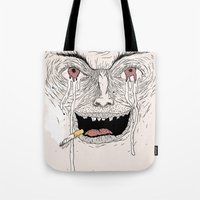 psycho Tote Bags featuring Psycho by Davies Babies