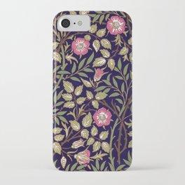 William Morris Sweet Briar Floral Art Nouveau iPhone Case