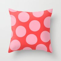 bubblegum Throw Pillows featuring Bubblegum by Color & Theory