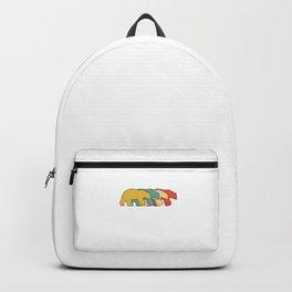 Vintage Retro Pop Art Polar Bear Animal Gift Idea Backpack
