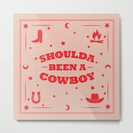 Cowboy Bandana Metal Print