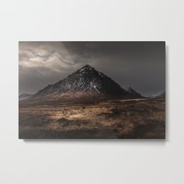 The Buachaille Dusk Metal Print