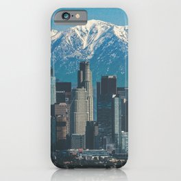 Los Angeles California in the Winter with San Gabriel Mountains iPhone Case