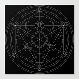 transmutation cicle Canvas Print