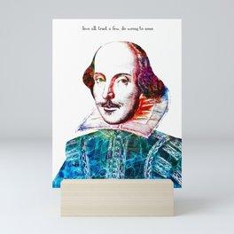 Graffitied Shakespeare Mini Art Print