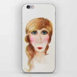 Blue Eyed Lady- Joni iPhone Skin