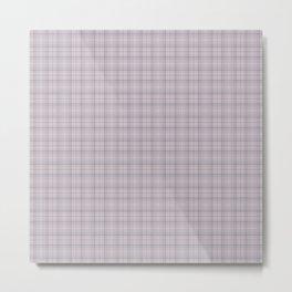 Mauve Blue Grid Checks I Metal Print