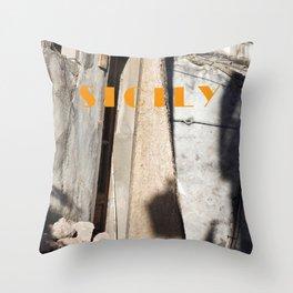 LIGHT - SHADOW - SICILY Throw Pillow