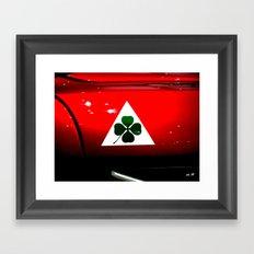 Alfa Romeo Green Cloverleaf - Quadrifoglio Verde Framed Art Print