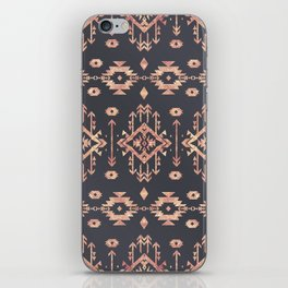 Trendy tribal geometric rose gold pattern iPhone Skin