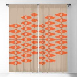 abstract eyes pattern orange tan Blackout Curtain