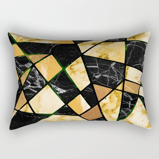 Abstract #460 Marble and Metal Rectangular Pillow