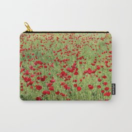 A Pasture Of Red Poppies and Remembrance Carry-All Pouch