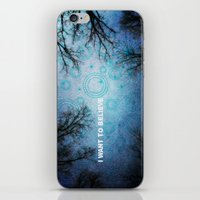 i want to believe iPhone & iPod Skins featuring I want to believe... by Julia Kovtunyak