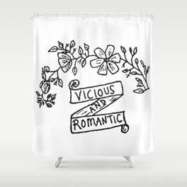 Vicious and Romantic Shower Curtain
