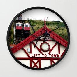 Saltburn Lift To Town Wall Clock
