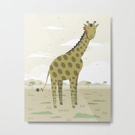 Giraffe in the savanna  Metal Print