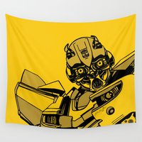 transformers Wall Tapestries featuring Transformers: Bumblebee by Skullmuffins