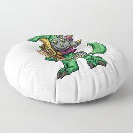 Lizard gladiator cartoon - dinosaur warrior illustration - tyrannosaurus character Floor Pillow