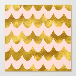 Pink Gold Foil 04 Canvas Print