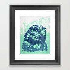 Go Hawks Framed Art Print