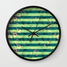 Vegetation-stripes Wall Clock