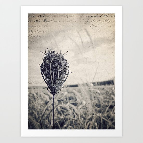 soliloquy {bw Art Print