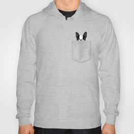 Pocket Boston Terrier Hoody