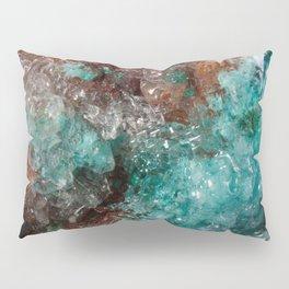 Dark Rust & Teal Quartz Pillow Sham