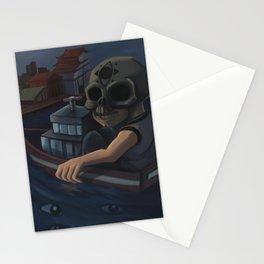 Boat skull Stationery Cards