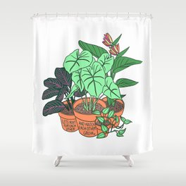 Root and Grow Shower Curtain
