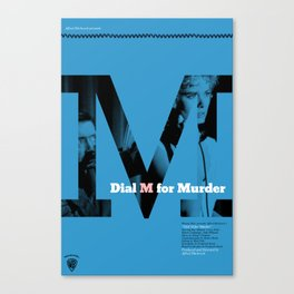 Hitchcock: Dial M For Murder Canvas Print