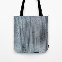 Snow and raindrops Tote Bag