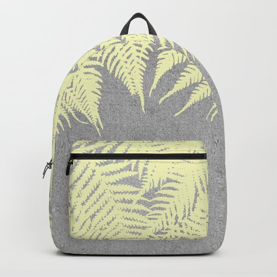 Concrete Fern Yellow Backpack