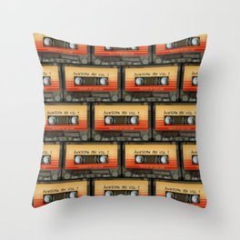 awesome transparent mix cassette tape vol 1 Throw Pillow