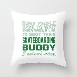 Skateboarding Buddy Throw Pillow