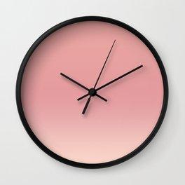 Blush ombre Wall Clock