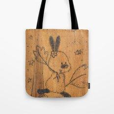 Cute little animal on wood Tote Bag
