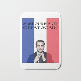 Macron Make Our Planet Great Again Bath Mat