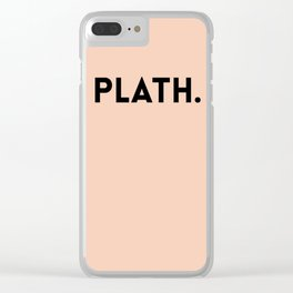 Sylvia Plath Clear iPhone Case