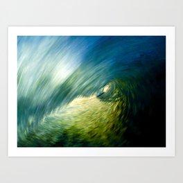 Motion Blur - Encinitas, CA Art Print