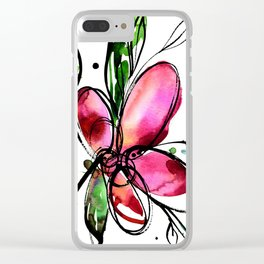 Ecstasy Bloom 9 by Kathy Morton Stanion Clear iPhone Case