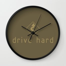 Drive Hard v4 HQvector Wall Clock